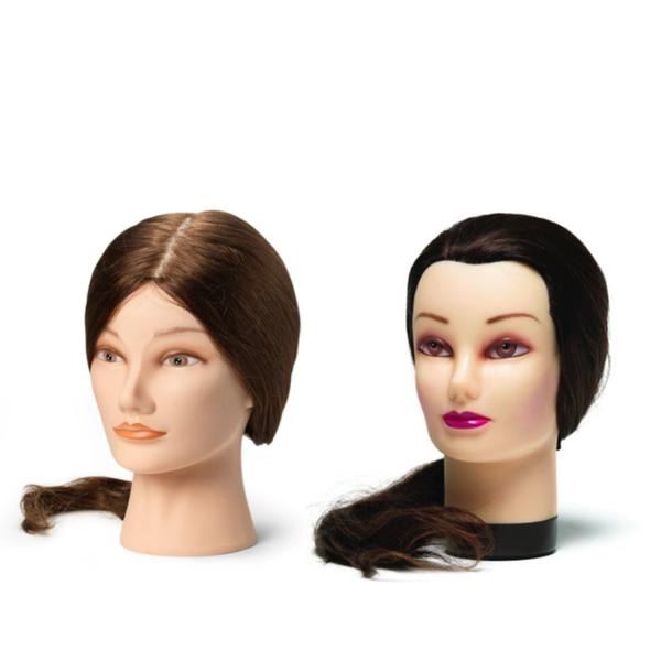 fc30d30b8 Cvičné hlavy s přírodními vlasy